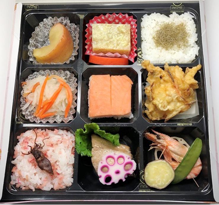 ねんりんピック富山に参加する選手や招待者らに提供される昼食弁当
