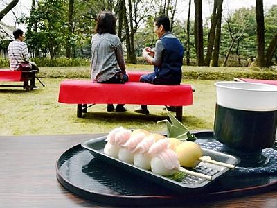 庭園眺め団子いかが 国名勝の養浩館にカフェ、平日限定