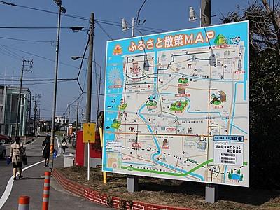 新崎駅の顔 案内を充実 地元住民が看板新装 新潟市北区