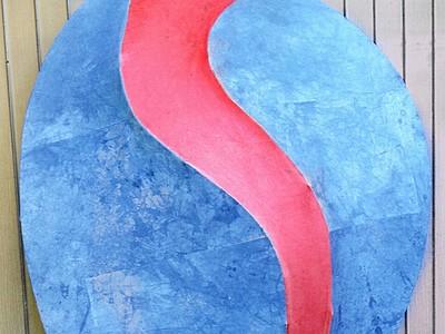 和紙アートが古民家にずらり 造形作家の橿尾さんが個展