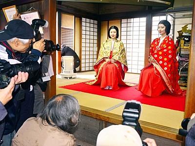 小少将、お市モデルに撮影会 越前朝倉糸桜まつり