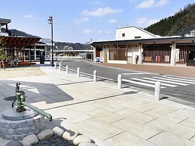 新今庄駅1年祝おう! 駅前広場完成、29日記念催し