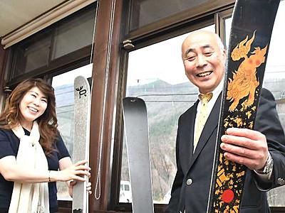 信州の美が滑りだす 飯田の会社が木曽漆器の組合と連携