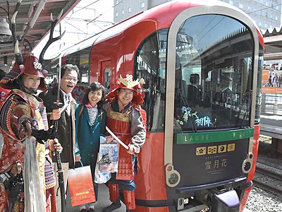 雪月花、上田へ「初陣」 えちごトキめき鉄道リゾート列車