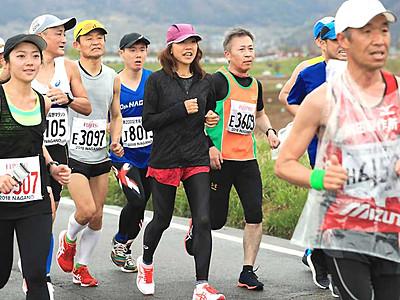 高橋尚子さん、最後の1人まで 長野マラソン5年連続参加