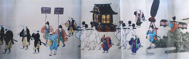 5月5日に行われる絵巻行列の基となる絵巻の複写