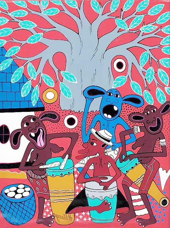 「スキヤキ・ミーツ・ザ・ワールド」のイメージイラストに選ばれたリランガさんの作品