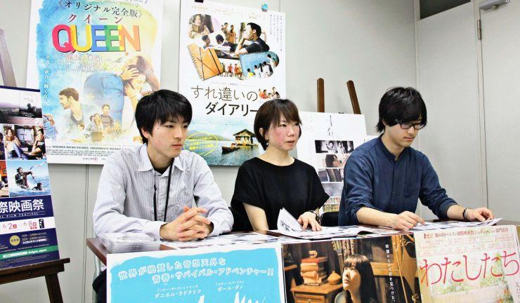 ことしの「にいがた国際映画祭」の内容などを語る実行委員会=20日、新潟市中央区