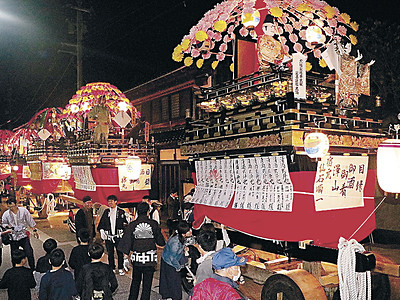 七尾・田鶴浜で住吉大祭