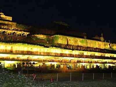 闇に輝く巨大史跡 北沢浮遊選鉱場跡 佐渡