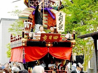 坂井・三国祭、19日開幕 勇壮山車準備よし 渡り初めで住民に披露