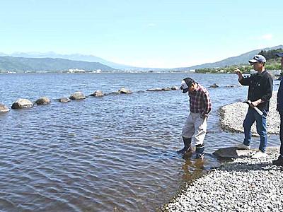 人工なぎさの遊び場づくり 岡谷・諏訪湖岸で再開へ