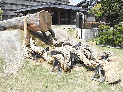 「曳き綱」作って御柱知ろう 下諏訪で26日体験ツアー