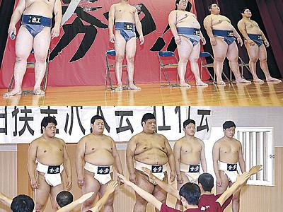 金市工、金沢学院で高校相撲金沢大会の壮行会