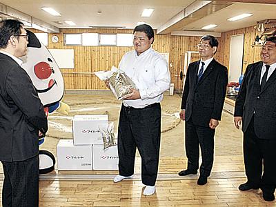 米102キロ 全農いしかわが相撲部生徒に