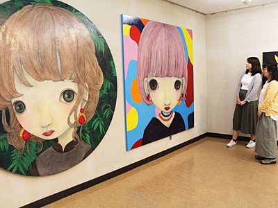 異彩大きな瞳 ワタナベメイさん人物画など 新潟・北区