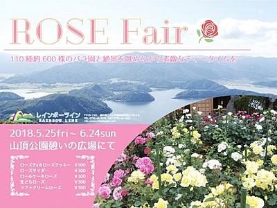 バラと絶景眺めティータイム 三方五湖レインボーライン
