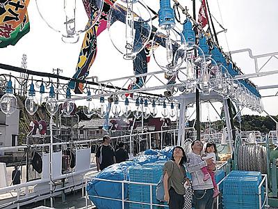 9900人イカ釣り船見学 能登町小木でイベント