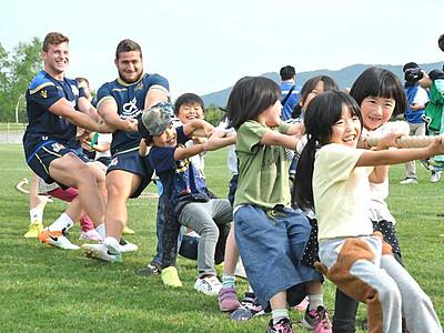 ラグビー伊代表「菅平、パーフェクト」 地元児童らと交流も