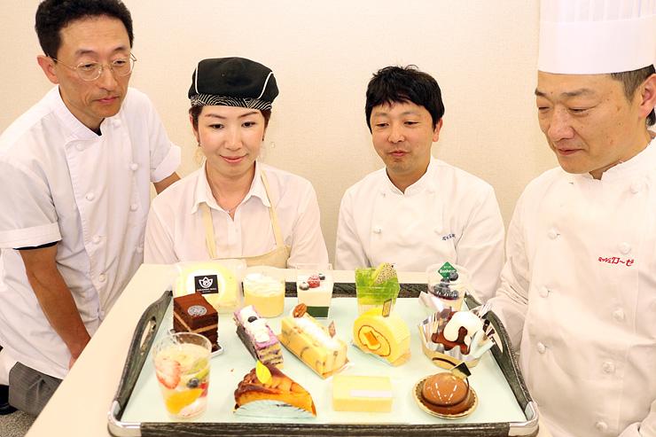 空中カフェで提供されるスイーツ=北日本新聞砺波支社