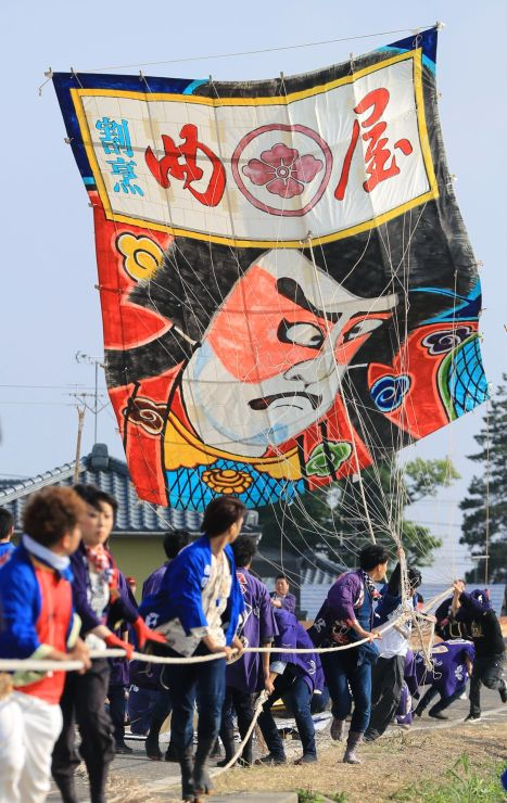 昨年の白根大凧合戦の様子=2017年06月1日、新潟市南区