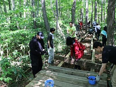 湯沢で野外フェス 7月フジロック ボランティア木道整備