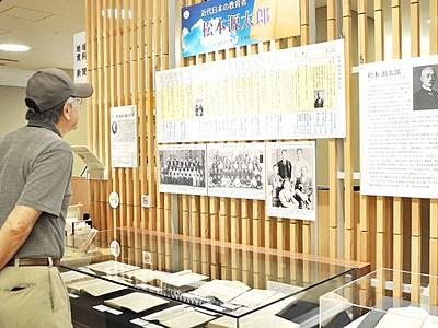 近代教育者、松本源太郎の一生知って 越前市で9日講演会
