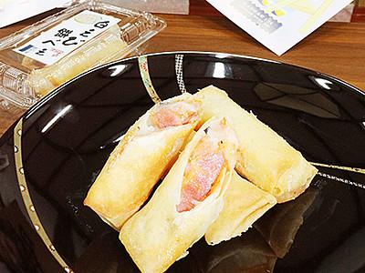 「白えび餅べえ」いかが 9日から新湊の隔週末市で販売