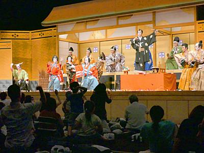 松本で迫力の地歌舞伎 中津川の保存会