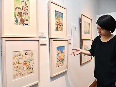 林義雄さん、優しい童画の世界 武井と親交、岡谷で企画展