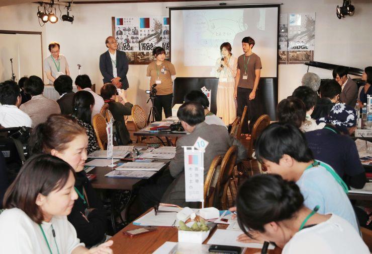水と土の芸術祭の市民プロジェクトを各団体が紹介した発表会=17日、新潟市中央区