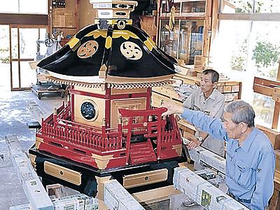 あばれ祭りへ神輿修復 能登町内、7月6日開幕