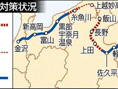 北陸新幹線全線、携帯電話の通話可能へ 19年度末までに