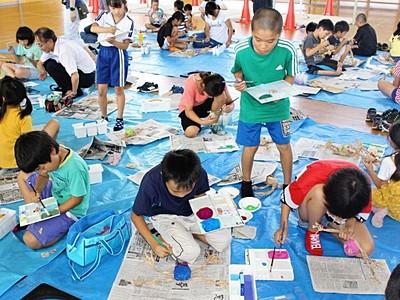 大地の芸術祭 十日町・吉田小 田島征三さん作品に協力