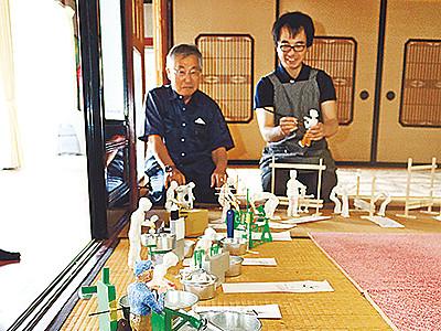 砺波・大門素麺資料館8月オープン 製造工程を精巧に再現