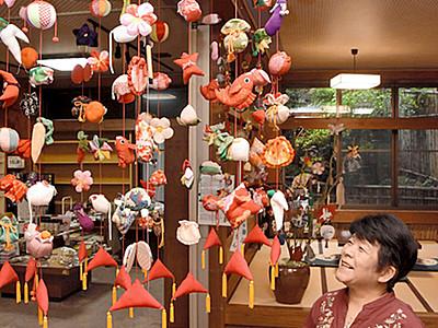 上田の歴史を伝える「つるし飾り」 別所温泉でまつり