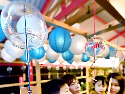 「願いの風鈴」涼音響く 福井市の和田八幡宮