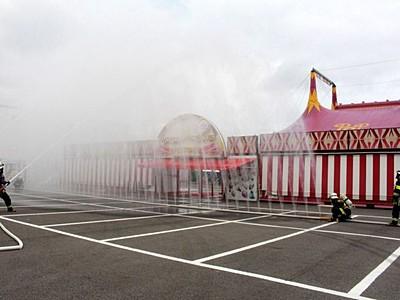 ポップサーカス開幕まで4日 消防訓練を実施 新潟