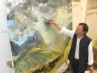 英国人画家が描く小海の自然 町で9月に個展