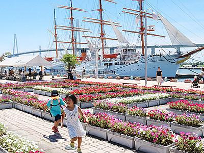 花の迷路や多彩な船公開 海王丸パークフェス