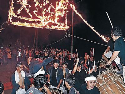 白山市の伝統行事、豊作祈る 横江の虫送り