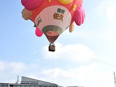 ふんわり熱気球、佐久で搭乗体験 8・9月も開催へ
