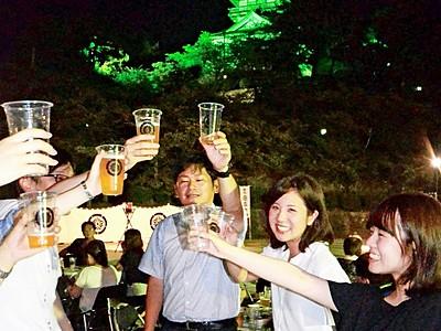 丸岡城背にビールいかが 坂井市に野外酒場オープン