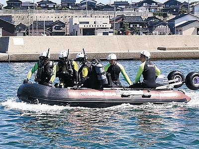 水難救助に導入 羽咋で沈まないボート訓練