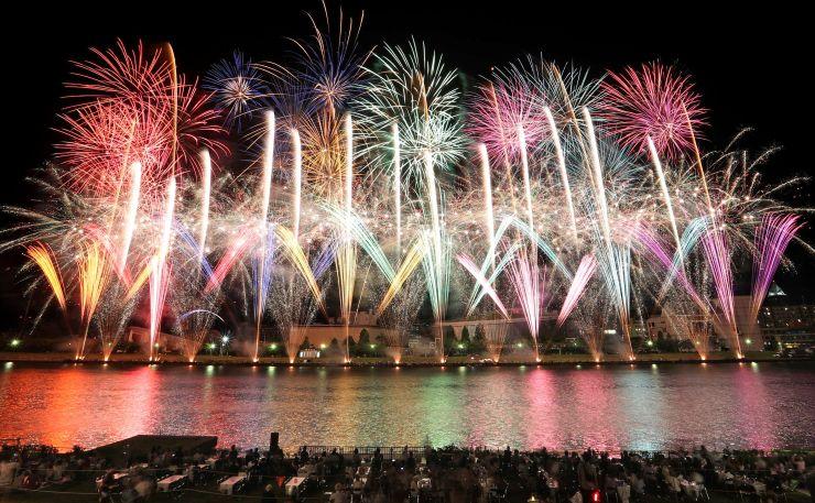 昨年の新潟まつり花火大会の様子