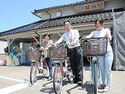 自転車貸し出す「なんチャリ」1日スタート 観光客の利便性向上