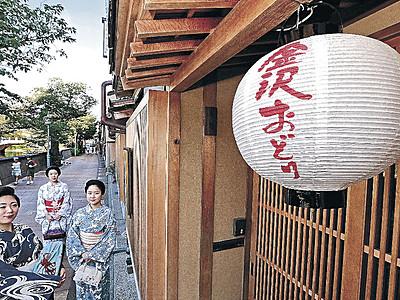 三茶屋街に一体感 「金沢おどり」の提灯設置 9月21日開幕