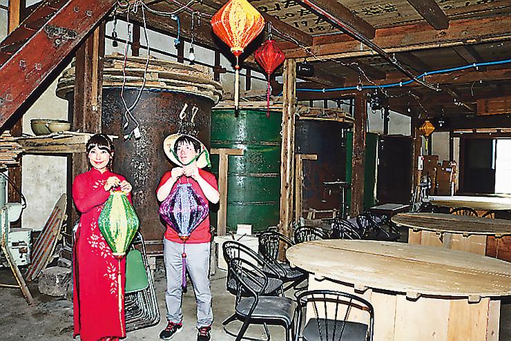 会場の一つの旧宮崎酒造