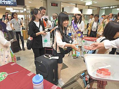 松本―札幌丘珠線就航 FDA期間限定の空の旅