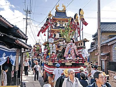 日本遺産の町並みゆく 輪島・門前で黒島天領祭